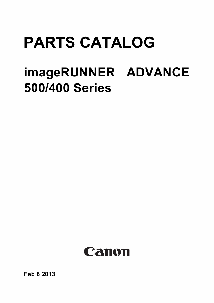 Canon imageRUNNER-ADVANCE-iR 500 400 Parts Manual-1
